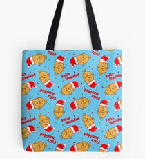 Christmas Cartoon Tamales Pattern Tote Bag