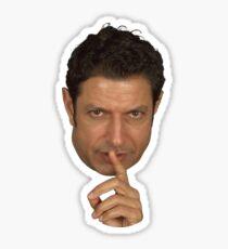 Pegatina Etiqueta engomada de la cara de Jeff Goldblum Shush