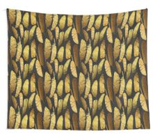 - Golden feathers - Wall Tapestry