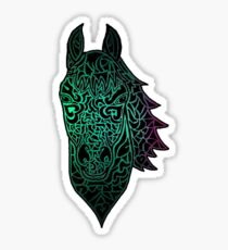 Horse Head (Cool Colors) Sticker