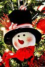 Snowman Tree Ornament by Kathleen Daley