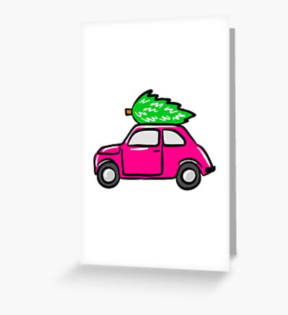 Christmas Tree Shopping Greeting Card