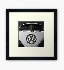 VW Split Screen camper / bus Framed Print