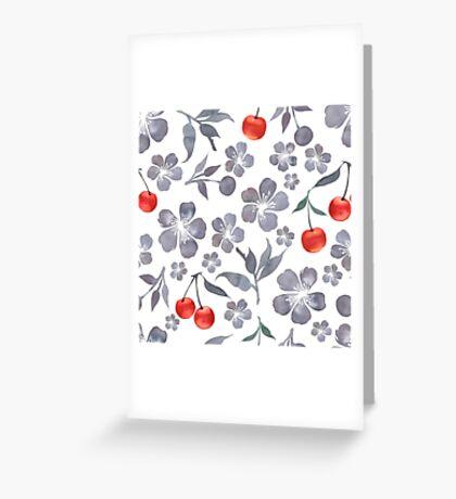 - Cherry blossom pattern - Greeting Card