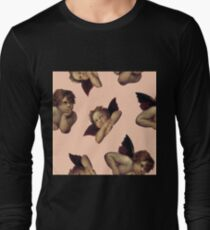 Classical Cherub Toss in Peach Fresco Long Sleeve T-Shirt
