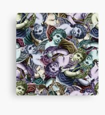 Renaissance Cherub Toss in Jewel Tones Canvas Print