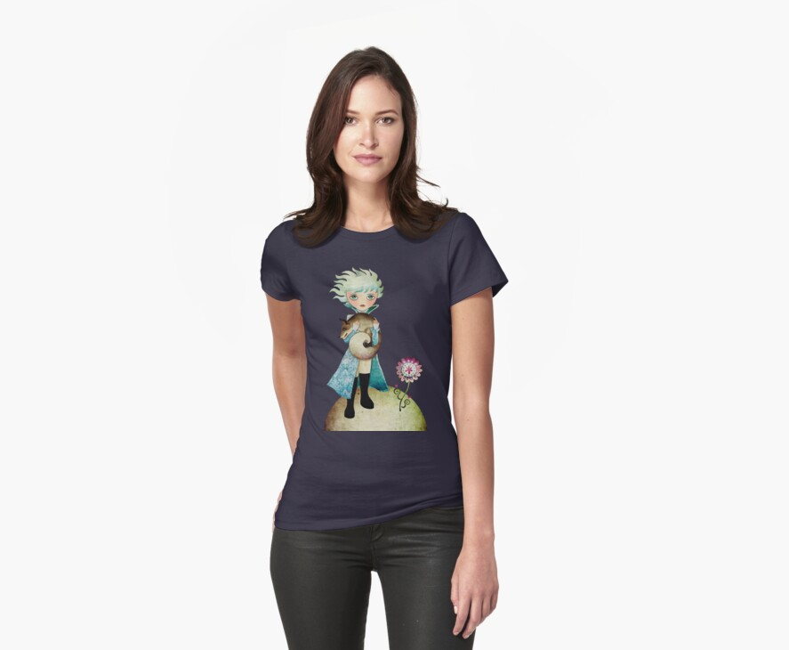 Wintry Little Prince T-shirt by sandygrafik