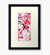 Cherry Blossoms Triptych I Framed Print