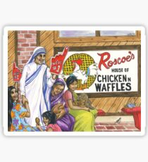 Mother Teresa, Roscoe's Chicken N Waffles, We're #1 Foam Finger Sticker