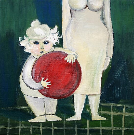 Little Boy with Red Ball by Marianna Tankelevich