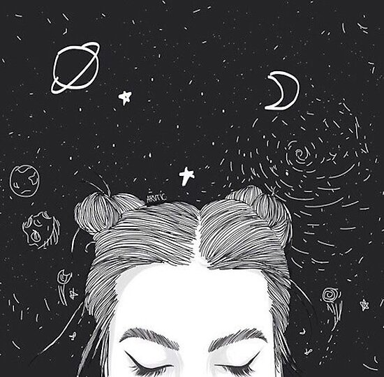 Tumblr girl space by ellelouise101