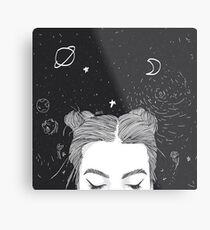 TUMBLR GIRL SPACE Metal Print