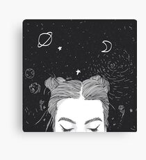 TUMBLR GIRL SPACE Canvas Print