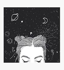 TUMBLR GIRL SPACE Photographic Print