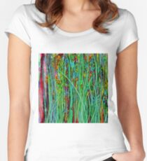 Qualia's Grass Women's Fitted Scoop T-Shirt