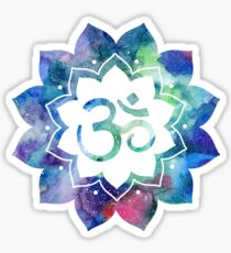 Om Sign Lotus Flower Sticker