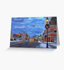 Season's Greetings from Yarmouth Nova Scotia Greeting Card