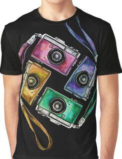 Multicolor vintage reflex cameras Graphic T-Shirt