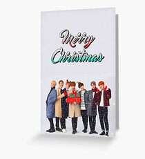 BTS Bangtan Christmas Holiday Edit  Greeting Card