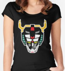 Voltron (Flat) Women's Fitted Scoop T-Shirt
