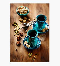 Tea or Hot Wine with Various Spices  Photographic Print