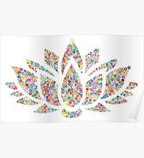 Multicolored Lotus Poster