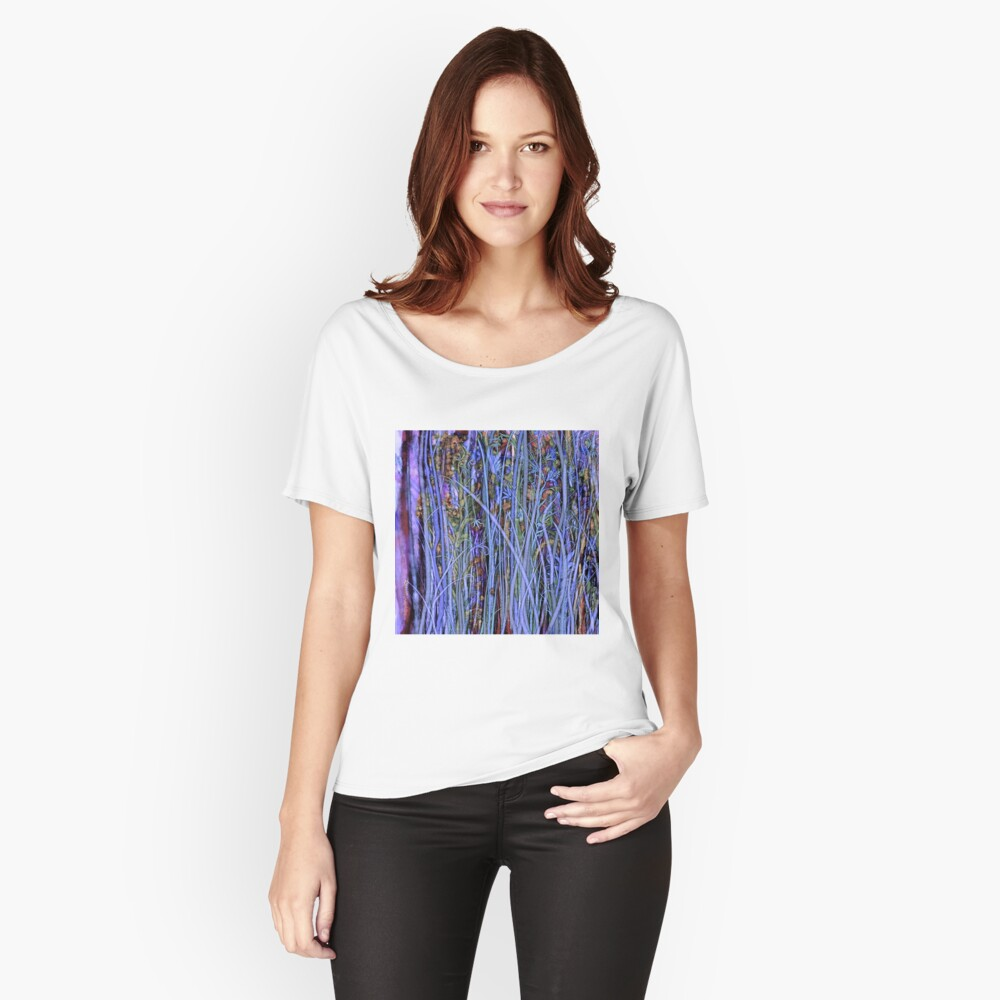 Qualia's Grass (Dreamy Blue) Relaxed Fit T-Shirt