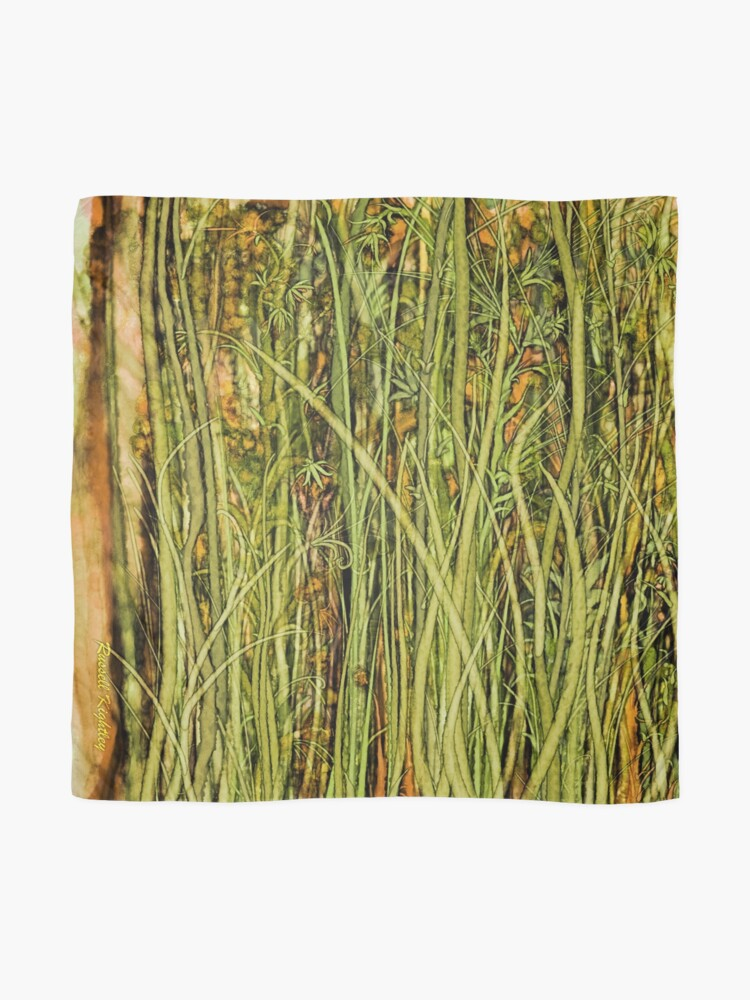 Alternate view of Qualia's Grass (Antique Yellow) Scarf