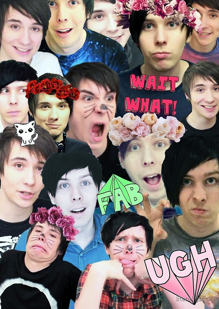 dan and phil collage by Alice Bell