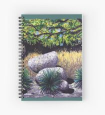 Tree and Boulders Spiral Notebook