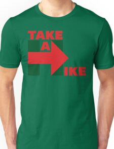 Take A Hike (Red/Green Christmas) Unisex T-Shirt