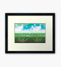 """The Great Grass Ocean"" Framed Print"