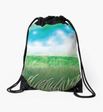 """The Great Grass Ocean"" Drawstring Bag"