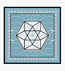 SACRED GEOMETRY - VECTOR EQUILIBRIUM - CUBEOCTAHEDRON - SPIRITUALITY Photographic Print