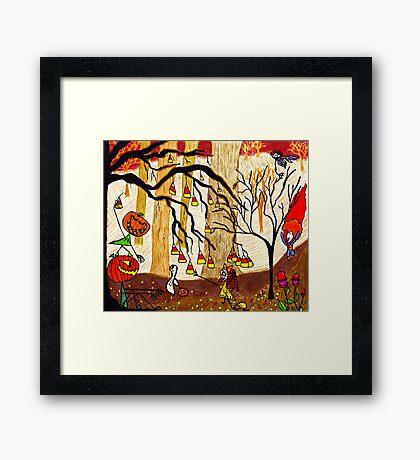Halloween Forest Framed Print