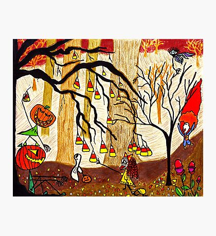Halloween Forest Photographic Print
