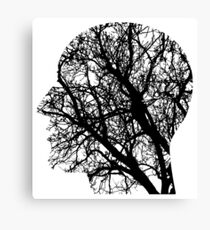 Human Nervous System As Tree Canvas Print