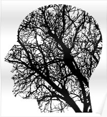 Human Nervous System As Tree Poster
