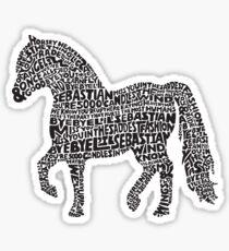 Bye Bye Lil Sebastian Calligram // Parks & Recreation Sticker