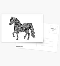 Bye Bye Lil Sebastian Calligram // Parks & Recreation Postcards