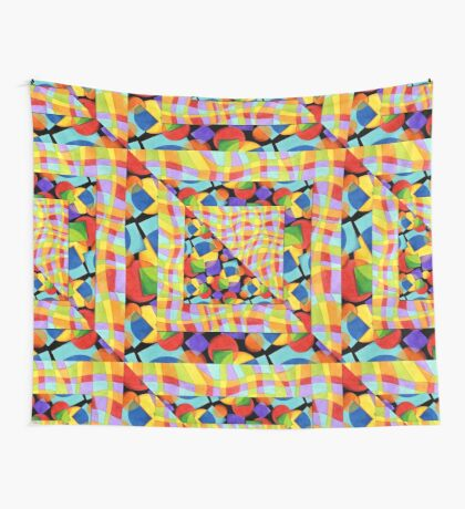 Candy Rainbow Quilt Wall Tapestry