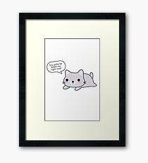 Funny Cat Pun Framed Print