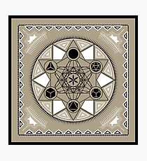 SACRED GEOMETRY - METATRONS CUBE - PLATONIC SOLIDS - FLOWER OF LIFE - SPIRITUALITY Photographic Print