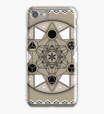 SACRED GEOMETRY - METATRONS CUBE - PLATONIC SOLIDS - FLOWER OF LIFE - SPIRITUALITY iPhone Case/Skin