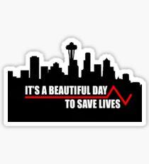Save lives sticker. Sticker