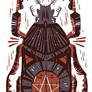 All Seeing Eye - Beetle One - Red by Pam Wishbow