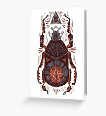 All Seeing Eye - Beetle One - Red Greeting Card