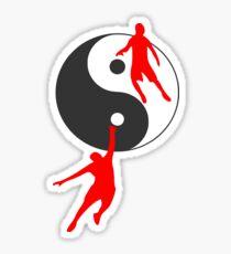 Pegatina Baloncesto Yin y Yang
