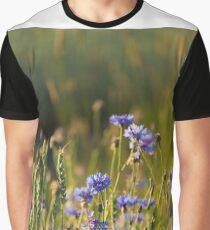 Cornflowers and common wheat Graphic T-Shirt