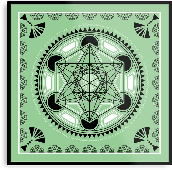 SACRED GEOMETRY - METATRONS CUBE - FLOWER OF LIFE - SPIRITUALITY by Anne Mathiasz